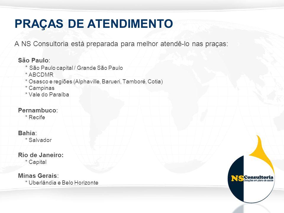 PRAÇAS DE ATENDIMENTO A NS Consultoria está preparada para melhor atendê-lo nas praças: São Paulo: