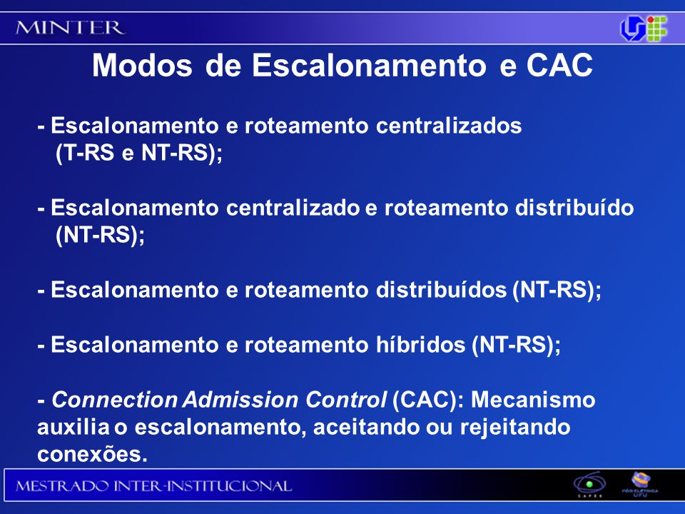 Modos de Escalonamento e CAC