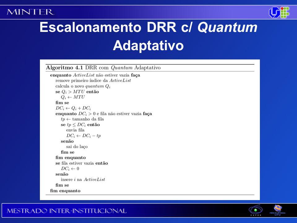 Escalonamento DRR c/ Quantum Adaptativo