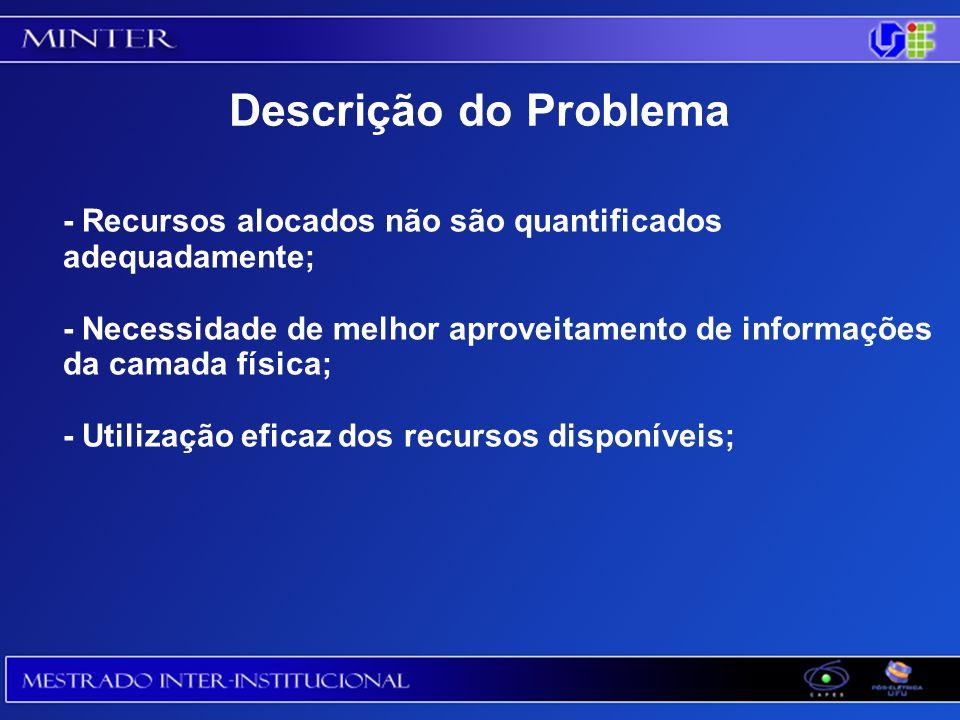 Descrição do Problema - Recursos alocados não são quantificados