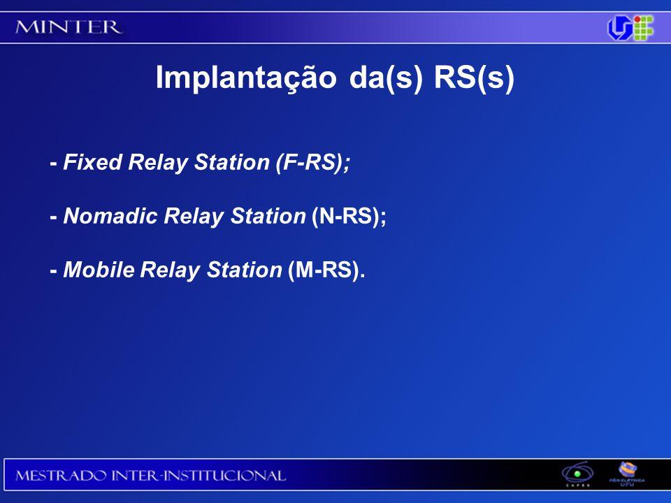 Implantação da(s) RS(s)