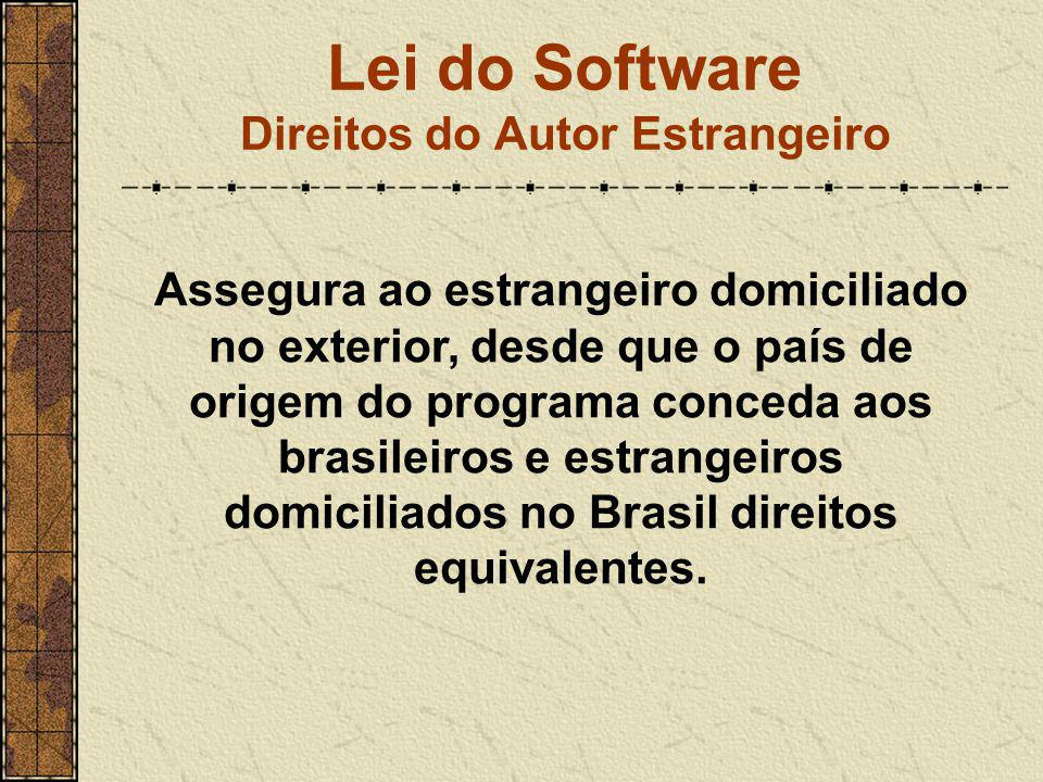Lei do Software Direitos do Autor Estrangeiro