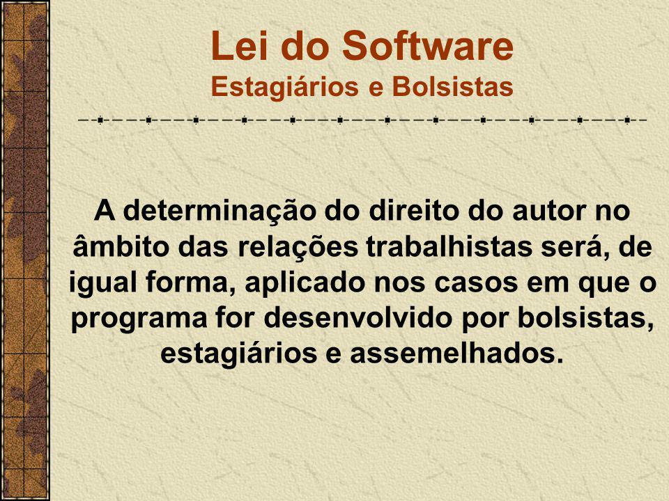 Lei do Software Estagiários e Bolsistas