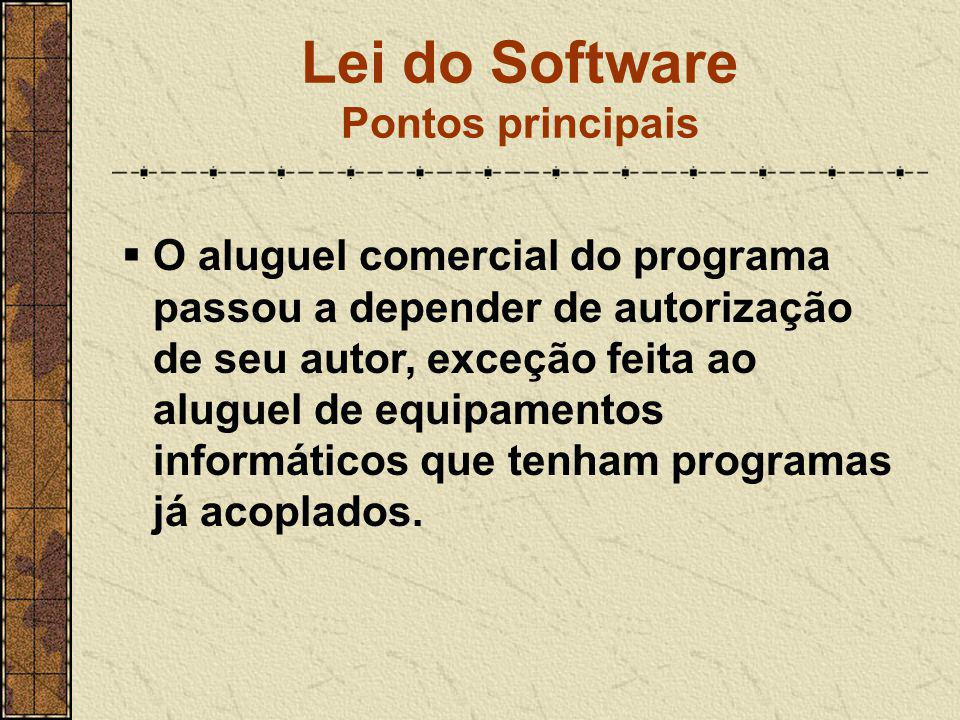 Lei do Software Pontos principais