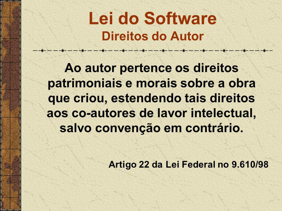 Lei do Software Direitos do Autor