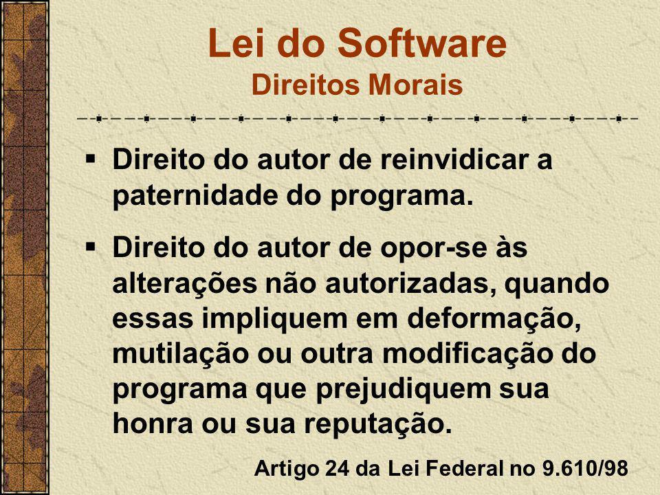 Lei do Software Direitos Morais