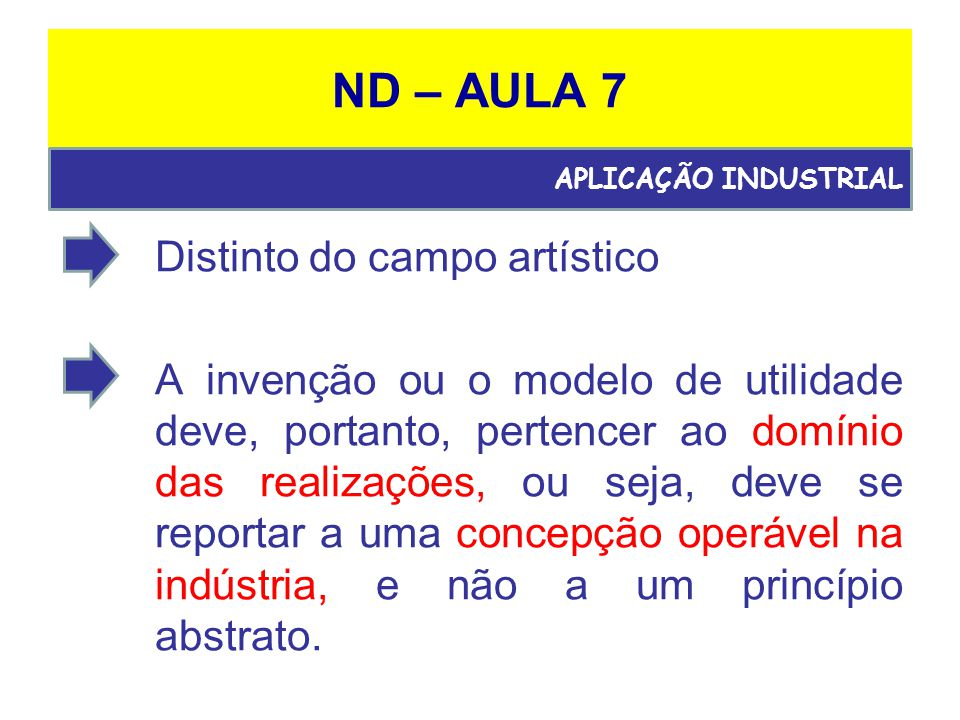 ND – AULA 7 Distinto do campo artístico