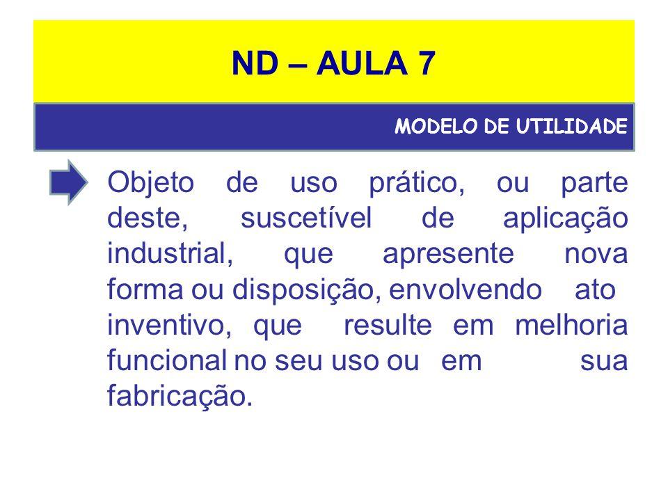 ND – AULA 7 MODELO DE UTILIDADE.