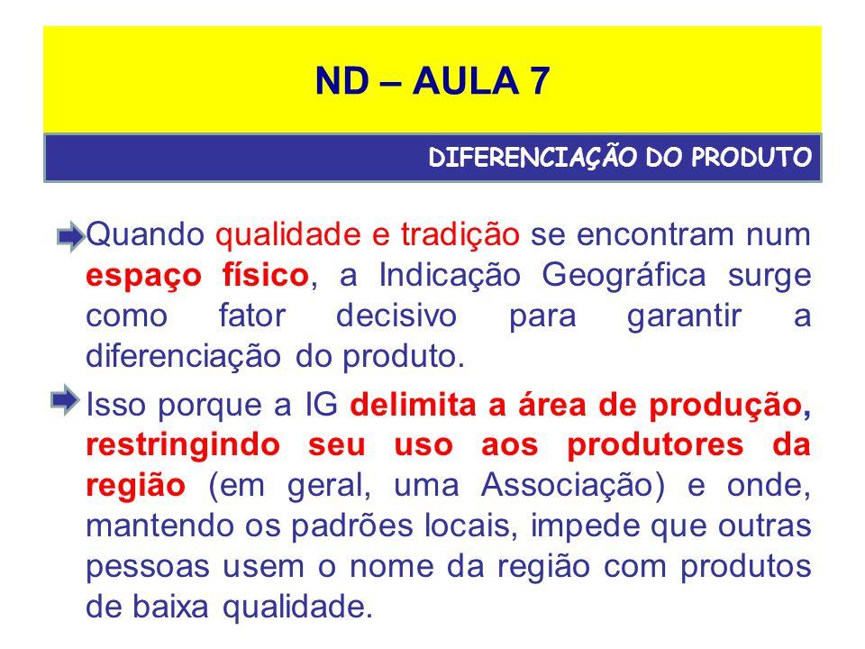 ND – AULA 7 DIFERENCIAÇÃO DO PRODUTO.