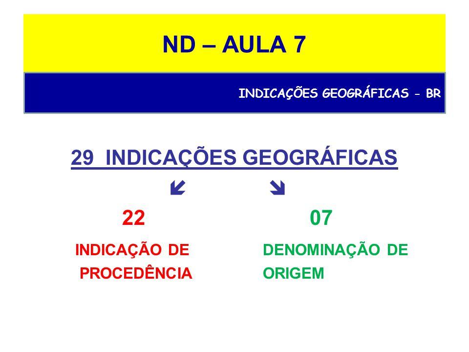 29 INDICAÇÕES GEOGRÁFICAS