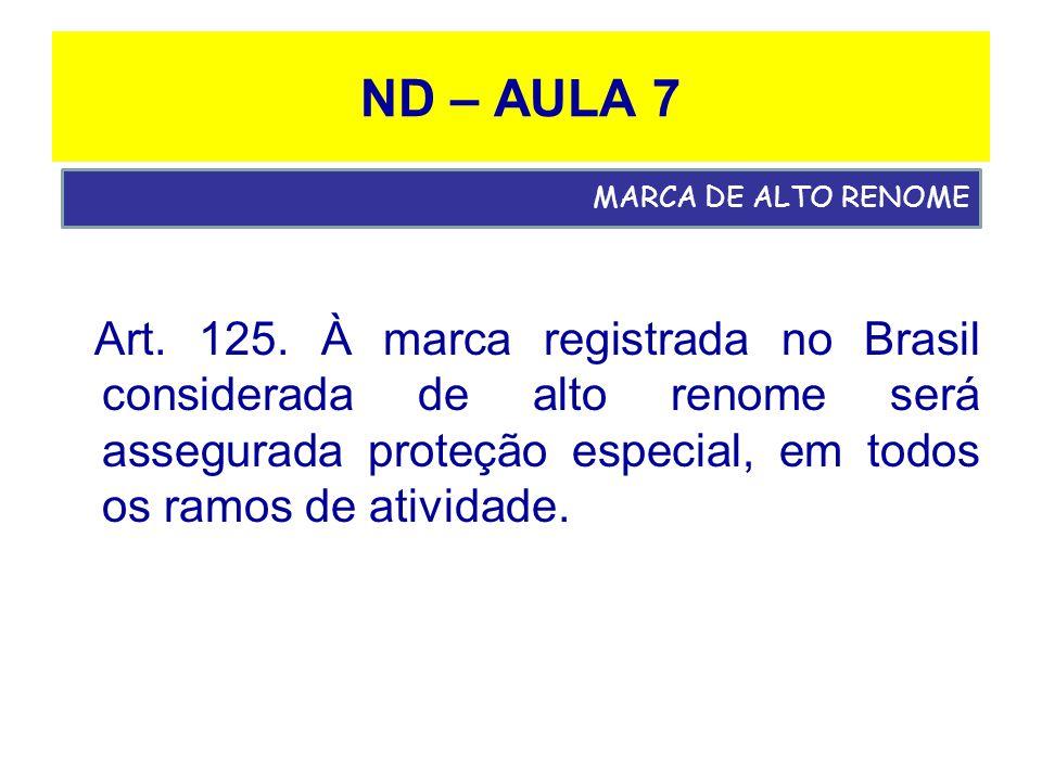 ND – AULA 7 MARCA DE ALTO RENOME.