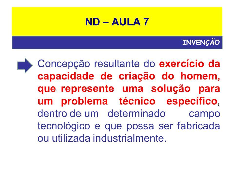 ND – AULA 7 INVENÇÃO.
