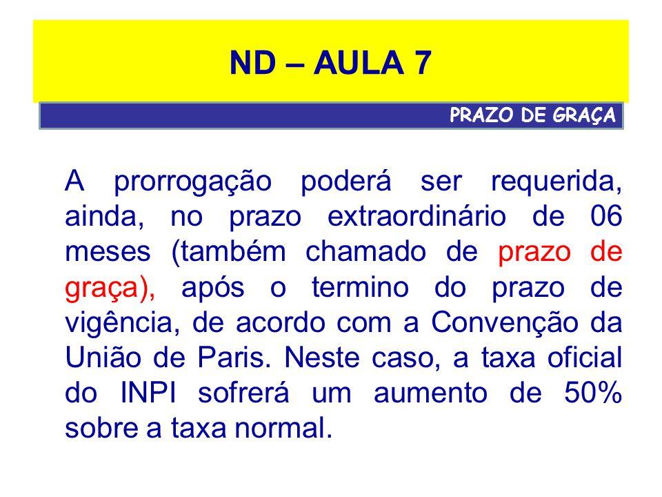 ND – AULA 7 PRAZO DE GRAÇA.