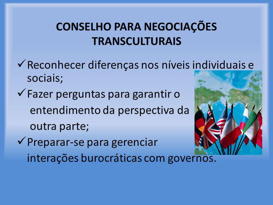 CONSELHO PARA NEGOCIAÇÕES TRANSCULTURAIS