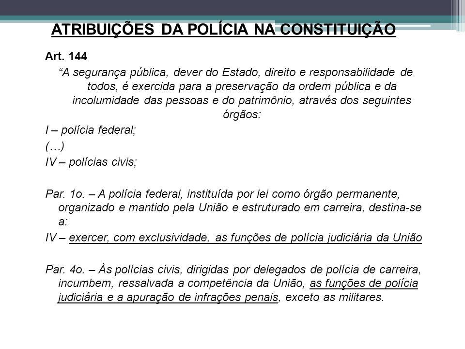 ATRIBUIÇÕES DA POLÍCIA NA CONSTITUIÇÃO