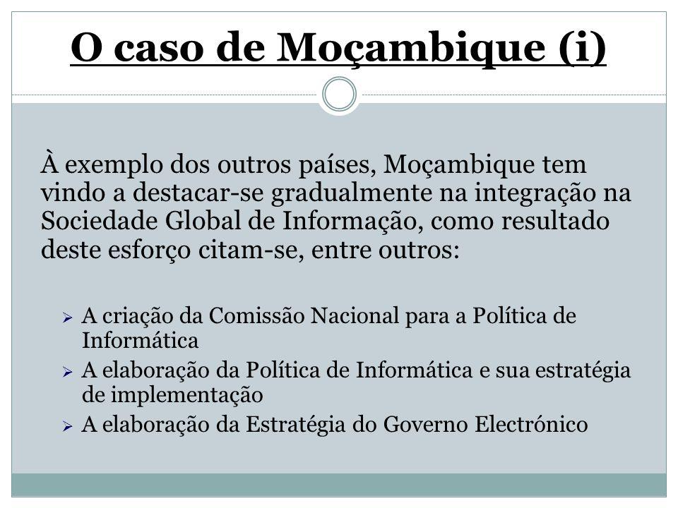O caso de Moçambique (i)