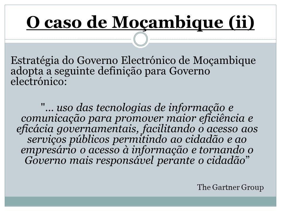 O caso de Moçambique (ii)