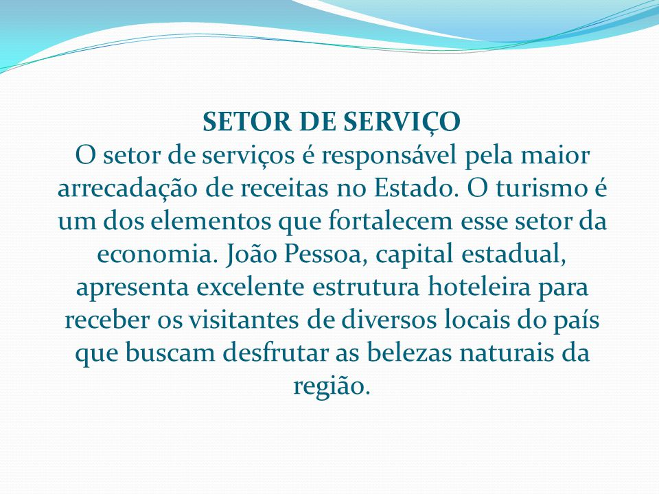 SETOR DE SERVIÇO