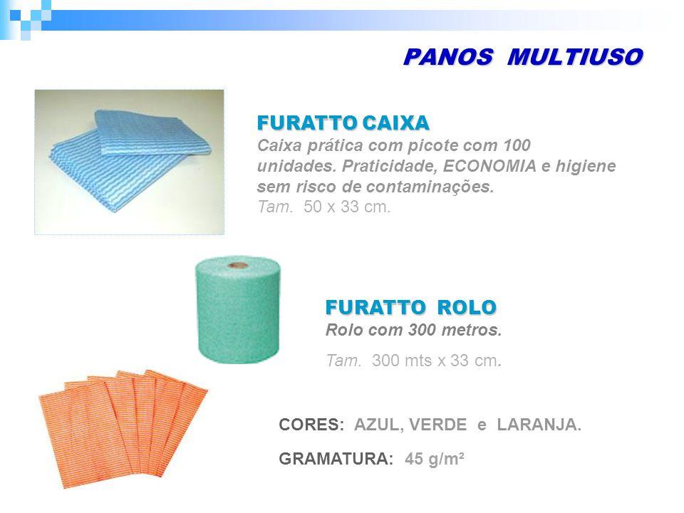 PANOS MULTIUSO FURATTO ROLO Rolo com 300 metros. Tam. 50 x 33 cm.