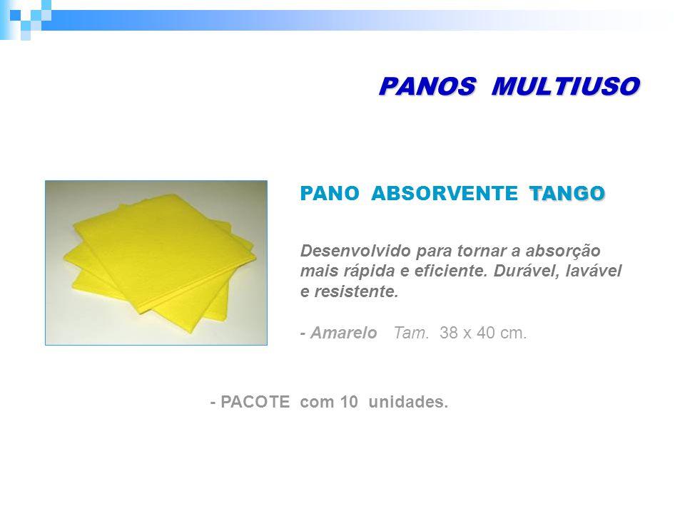 PANOS MULTIUSO - Amarelo Tam. 38 x 40 cm. - PACOTE com 10 unidades.