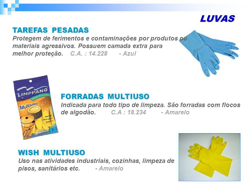 LUVAS TAREFAS PESADAS FORRADAS MULTIUSO WISH MULTIUSO