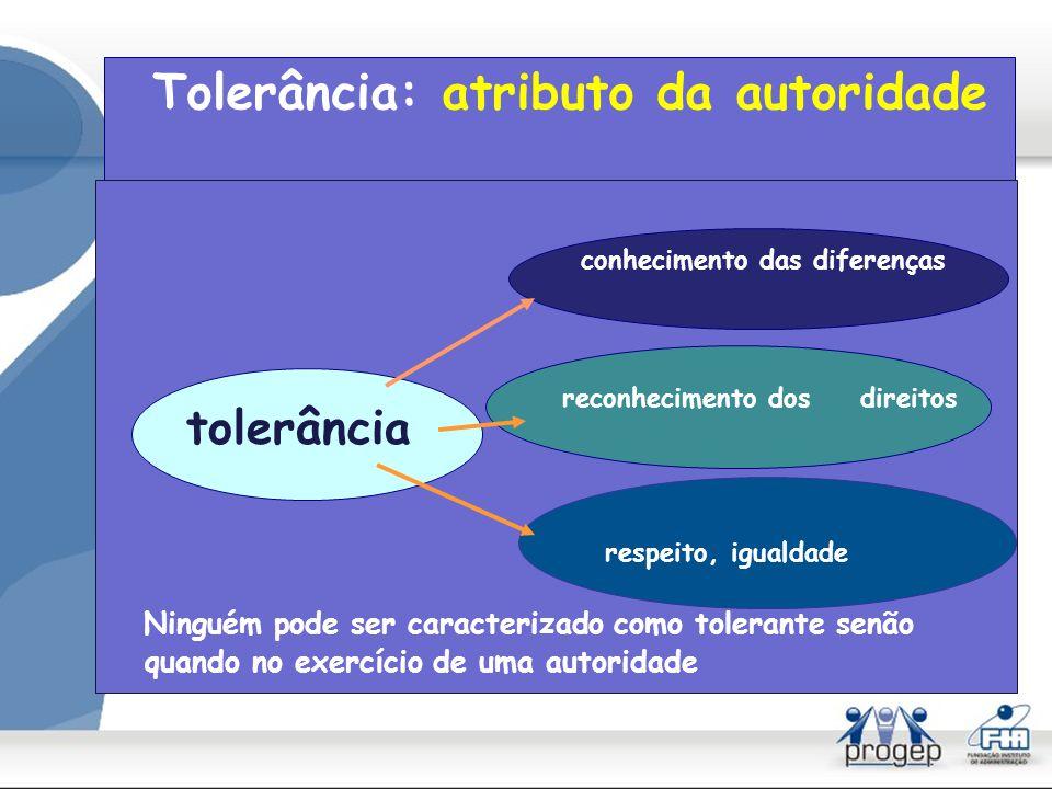 Tolerância: atributo da autoridade