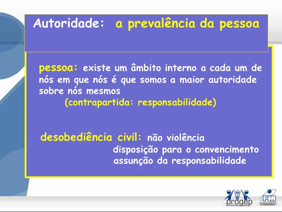 Autoridade: a prevalência da pessoa