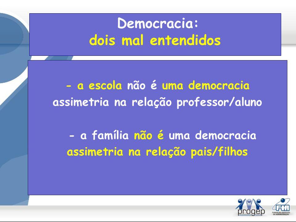 Democracia: dois mal entendidos