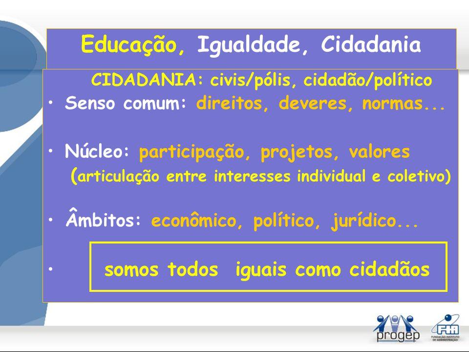 Educação, Igualdade, Cidadania