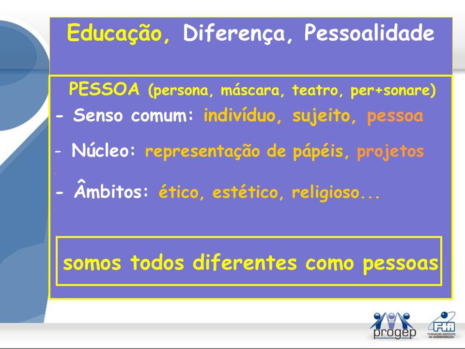 Educação, Diferença, Pessoalidade