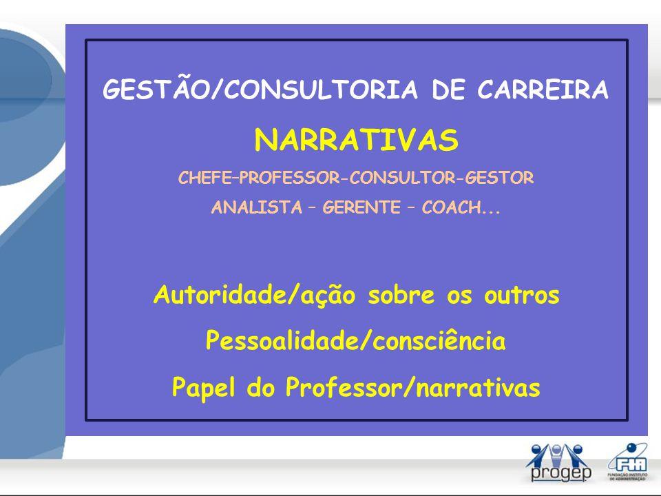 NARRATIVAS GESTÃO/CONSULTORIA DE CARREIRA