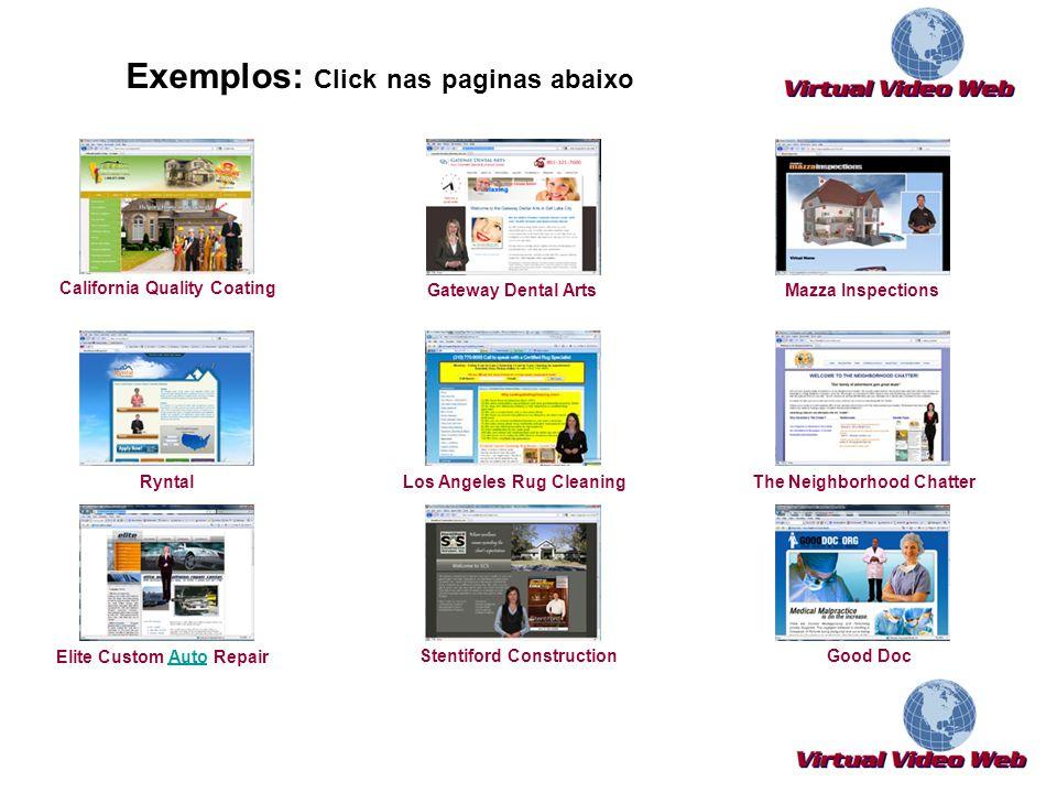 Exemplos: Click nas paginas abaixo