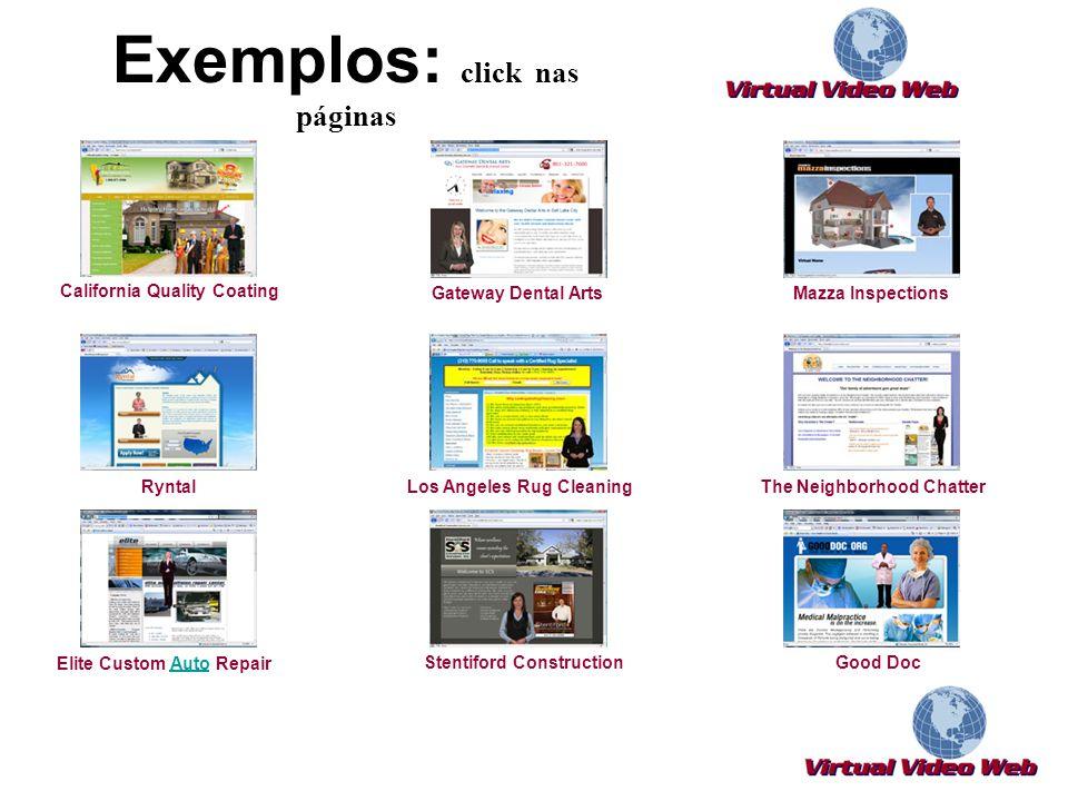 Exemplos: click nas páginas