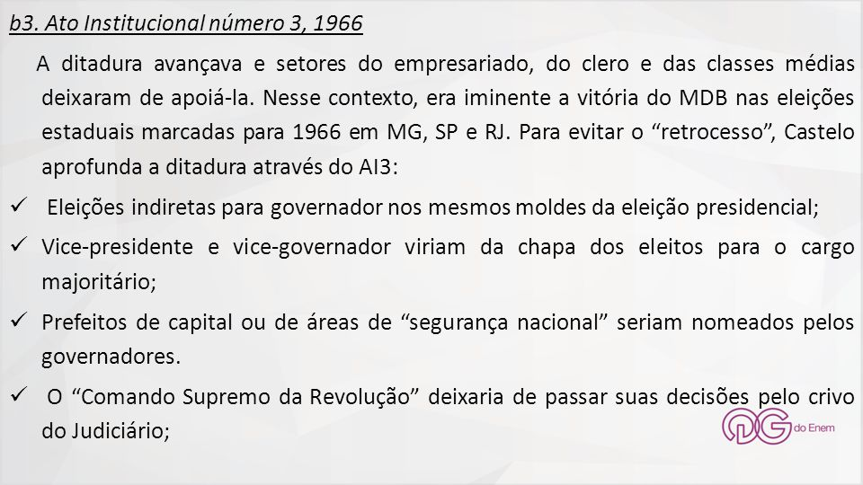 b3. Ato Institucional número 3, 1966