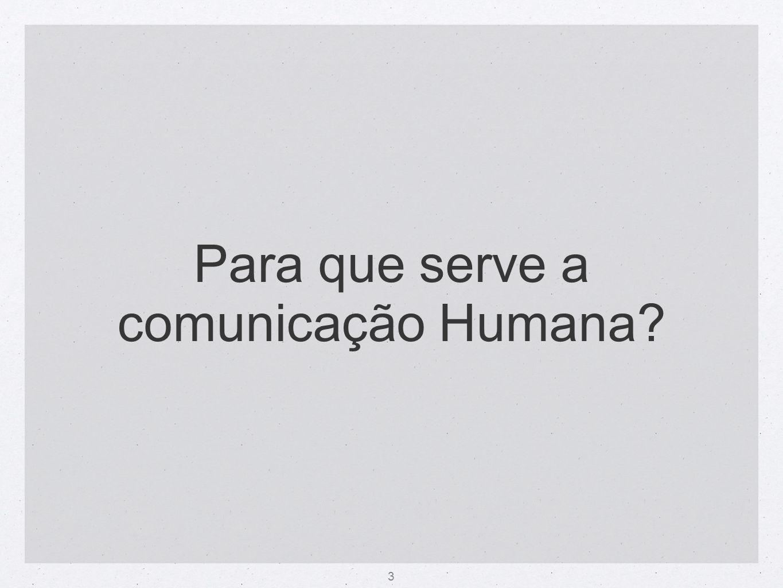 Para que serve a comunicação Humana