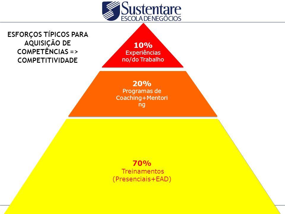 ESFORÇOS TÍPICOS PARA AQUISIÇÃO DE COMPETÊNCIAS => COMPETITIVIDADE