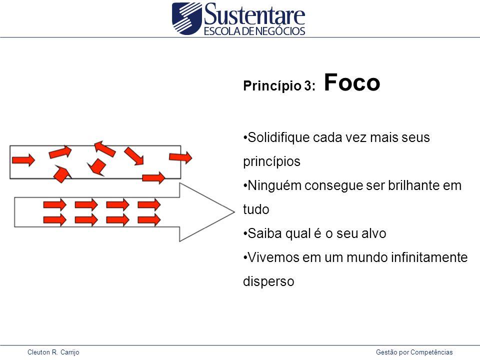 Princípio 3: Foco Solidifique cada vez mais seus princípios. Ninguém consegue ser brilhante em tudo.
