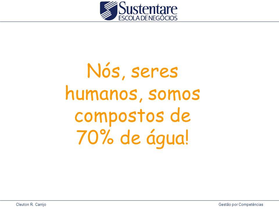 Nós, seres humanos, somos compostos de 70% de água!