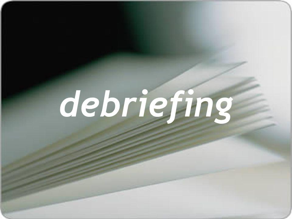 debriefing FATOS / EMOÇÕES DESCOBERTAS / FUTURO