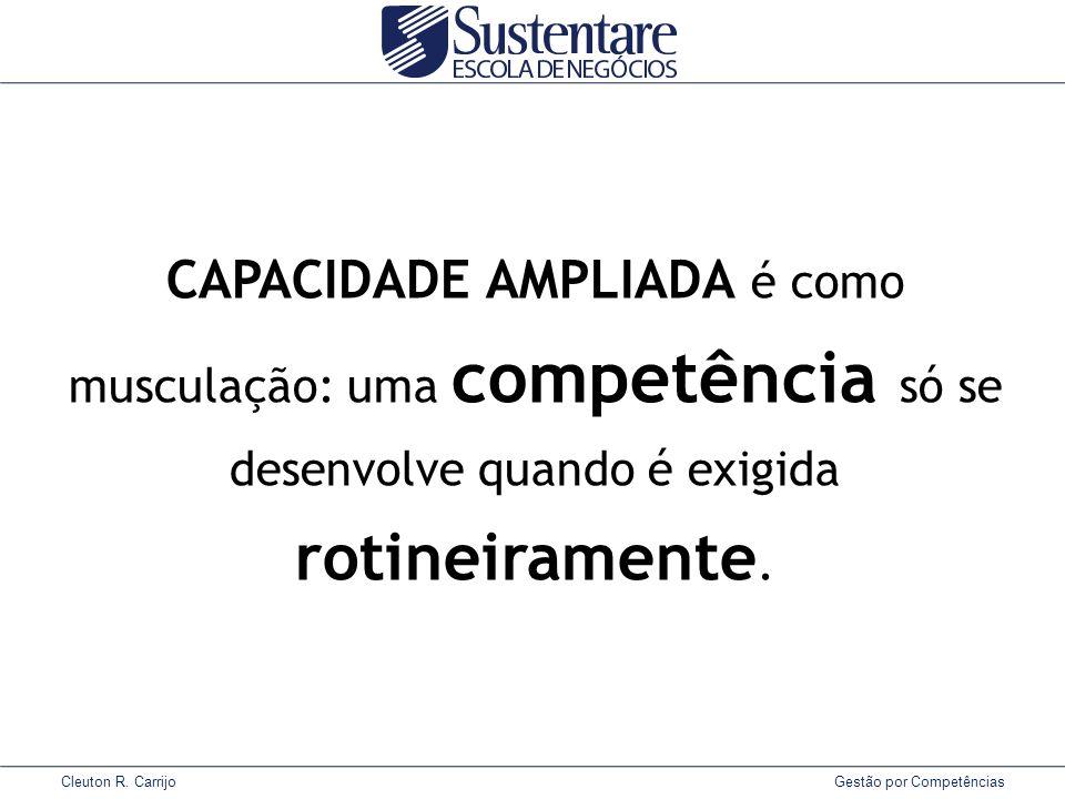 CAPACIDADE AMPLIADA é como musculação: uma competência só se desenvolve quando é exigida rotineiramente.