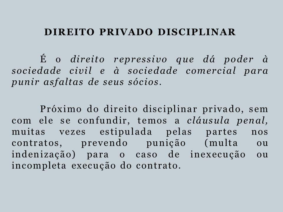 DIREITO PRIVADO DISCIPLINAR