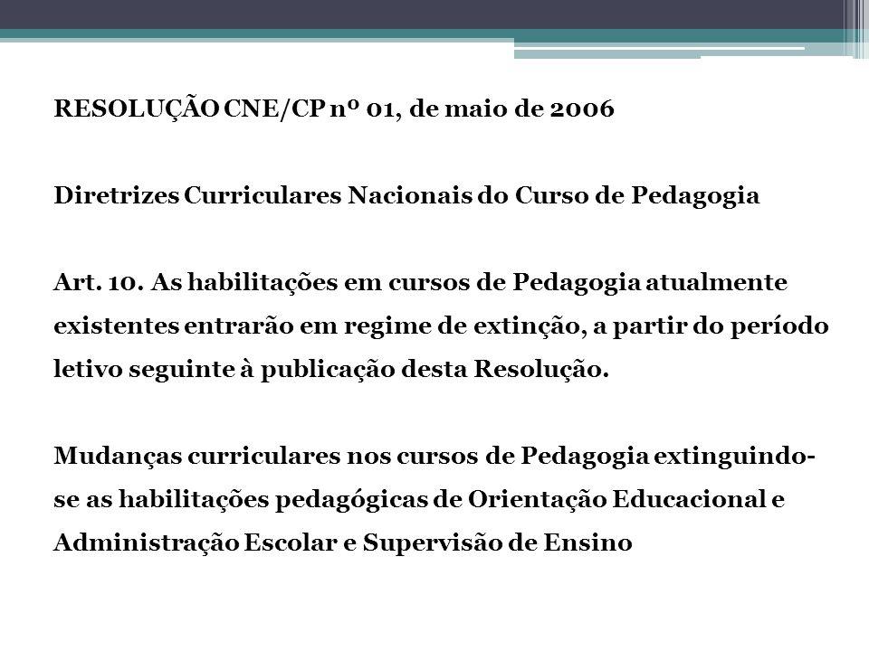 RESOLUÇÃO CNE/CP nº 01, de maio de 2006