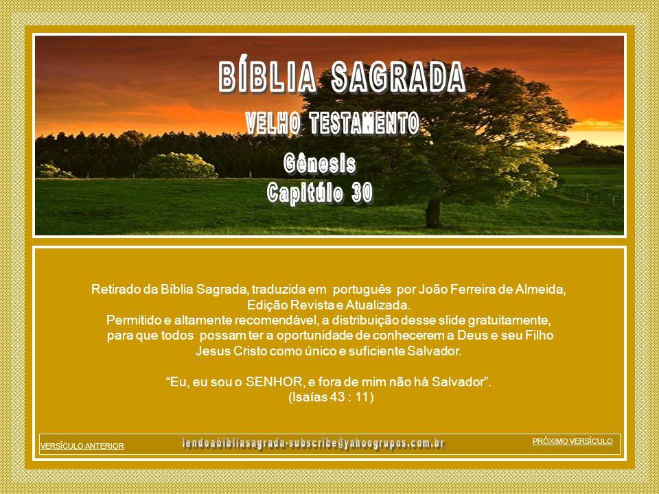 BÍBLIA SAGRADA Gênesis Capitúlo 30 VELHO TESTAMENTO