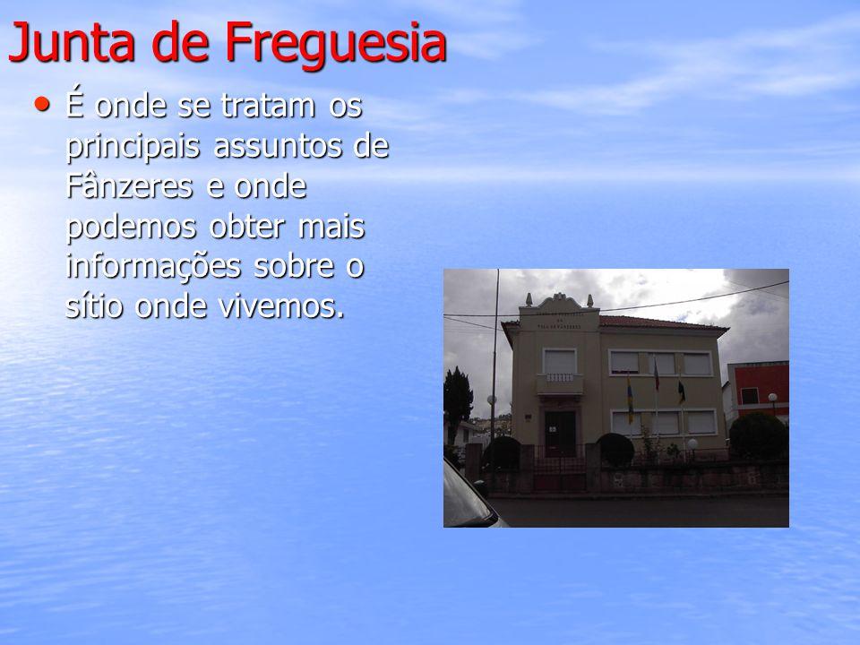 Junta de Freguesia É onde se tratam os principais assuntos de Fânzeres e onde podemos obter mais informações sobre o sítio onde vivemos.
