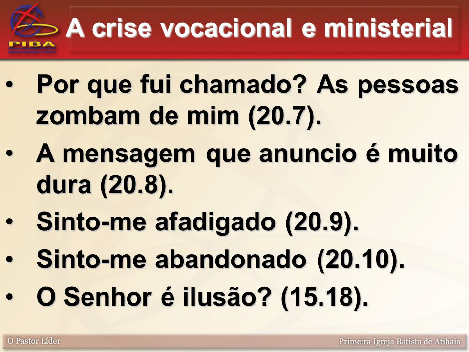 A crise vocacional e ministerial