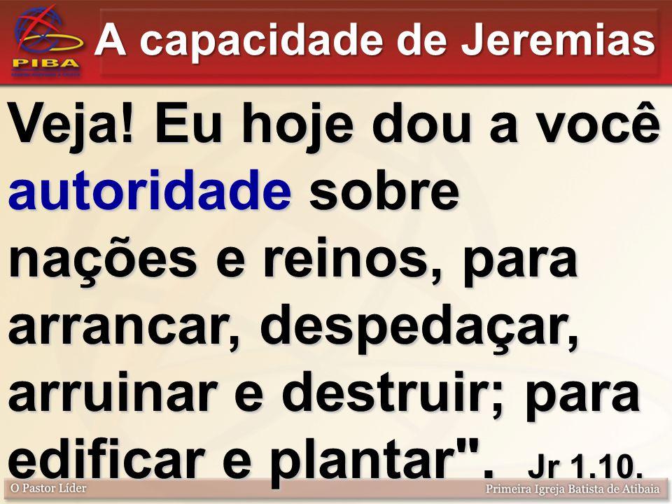 A capacidade de Jeremias