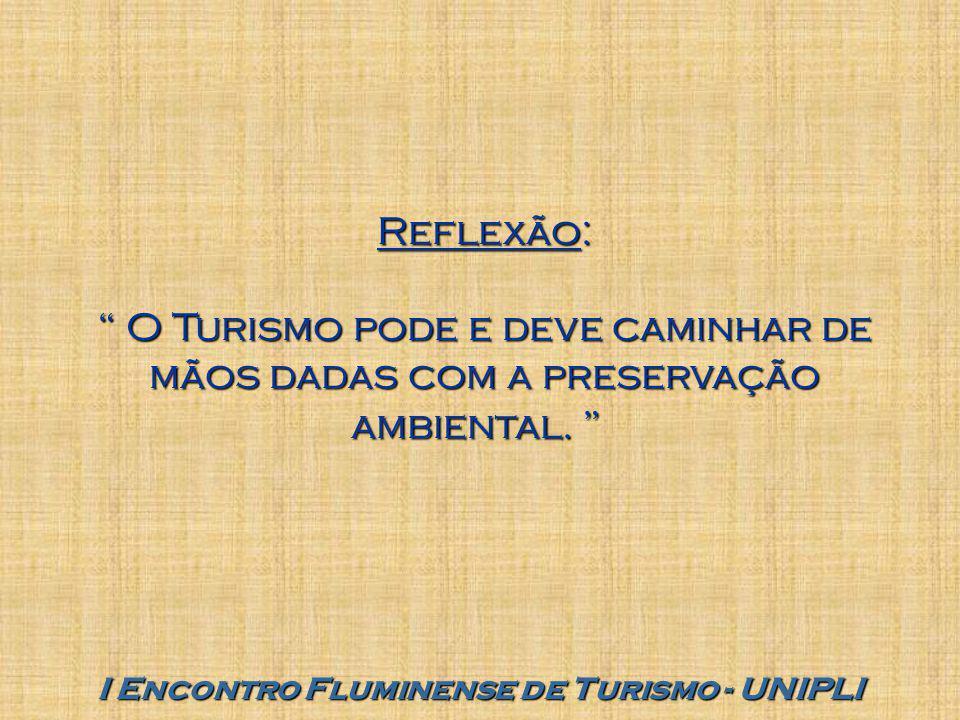 I Encontro Fluminense de Turismo - UNIPLI