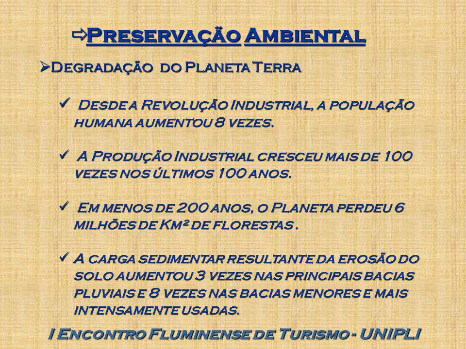 Preservação Ambiental I Encontro Fluminense de Turismo - UNIPLI