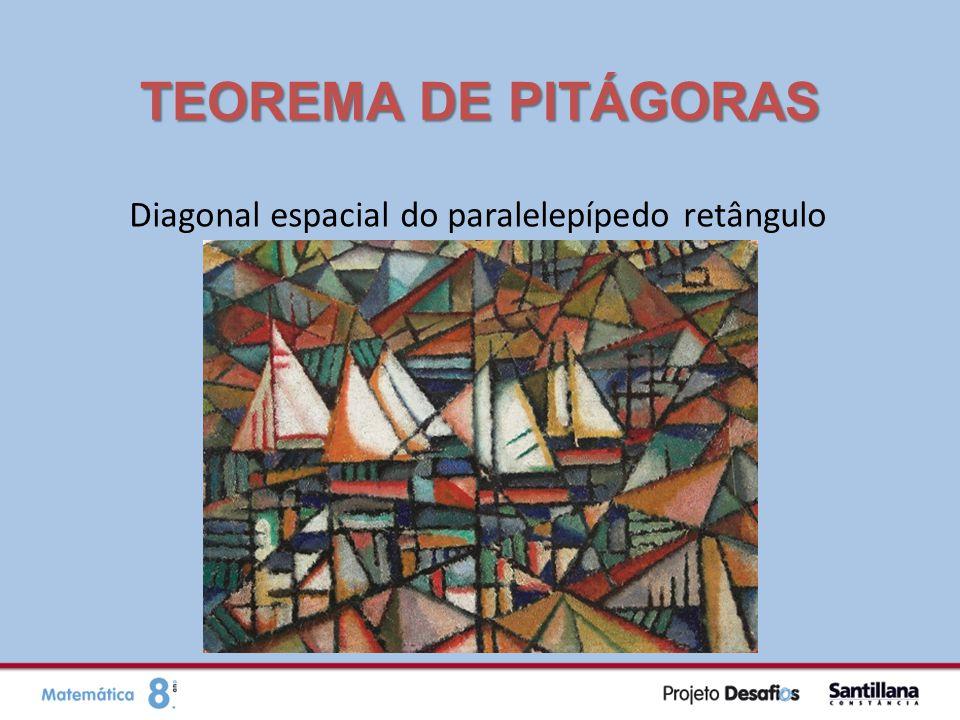Diagonal espacial do paralelepípedo retângulo