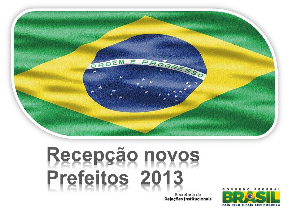 Recepção novos Prefeitos 2013